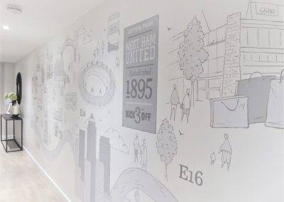 Jennifer Foxley Wall Mural Artist | Hand painted murals for Commercial Spaces