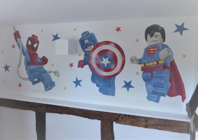 Jennifer Foxley Wall Murals| Lego Hand painted mural for Children's Rooms
